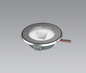 Round LED luminaire for cooker hoods