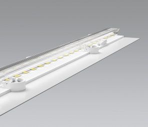Linear LED luminaire for downdraft hoods